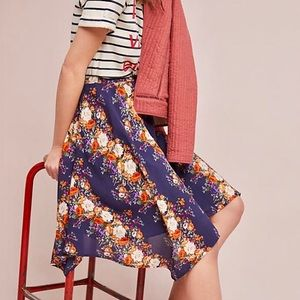ANTHROPOLOGIE Primula W5 Floral Skater Skirt